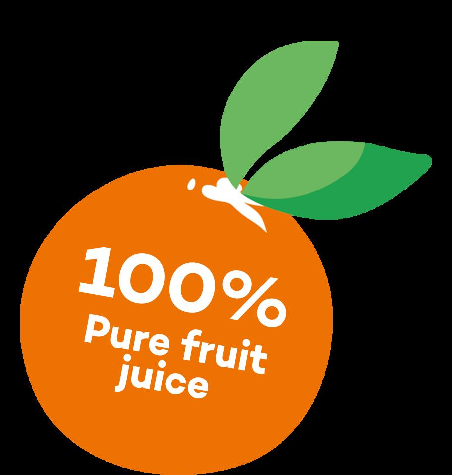 100% Pure fruit juice